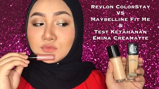 Revlon ColorStay VS Maybelline FitMe | Emina Creamatte Longevity Test | Bahasa Indonesia | Diendiana
