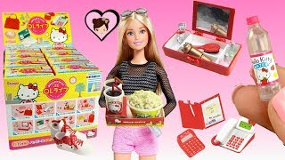 Barbie Doll House Miniatures - Hello Kitty Toys Rement Accesories
