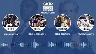 Ravens/Patriots, Lakers, Whitehead's release, Kawhi + Jordan comparison | UNDISPUTED Audio Podcast