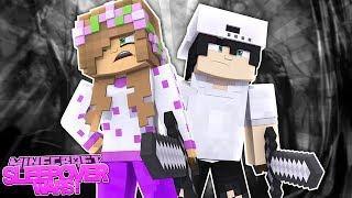 SUPER SECRET SPIES | Minecraft Sleepover Wars | w/Little Kelly and Raven