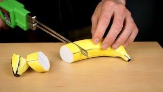 ASMR Styrofoam models vs thermal knife (oddly satisfying)