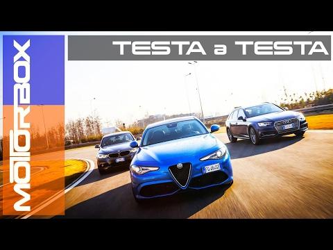 Giulia Veloce Q4 vs A4 quattro vs Serie 3 xDrive | La prova delle trazioni integrali [ENG SUB]