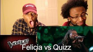 "The Voice Battle - Felicia Temple vs. Quizz Swanigan: ""Titanium"" (Reaction)"
