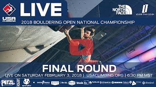 Final Round - 2018 Open Bouldering National Championship