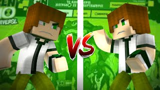 Minecraft - BATALHA DE BEBÊS: BEN 10 VS BEN 10 (com Luiz1227)