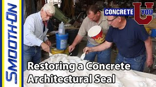 How To Make a Mold For Restoring a Concrete Architectural Seal