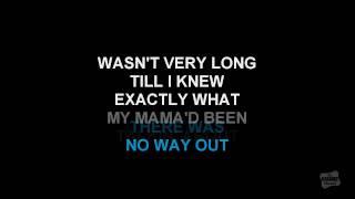 Fancy in the style of Reba McEntire karaoke video with scrolling lyrics