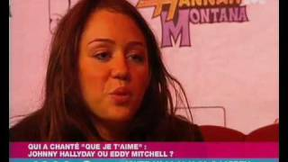 Miley Cyrus interview Hannah Montana in France M6 Disney