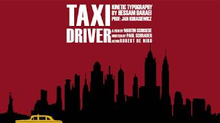 Taxi Driver Kinetic Typography by Hessam Daraei