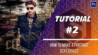 Tutorial | Text Portrait Effect | Photoshop CS6 | Photo Effects | Snipping Studios