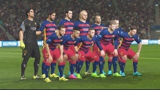 PES 2016 PS4 Gameplay - FC Barcelona Vs Real Madrid - UEFA Champions League