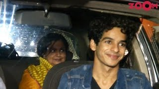 Ishaan Khatter With His Mother Spotted At Dhadak