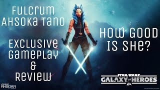 Exclusive Fulcrum Ahsoka Tano New Character Gameplay Review SWGOH