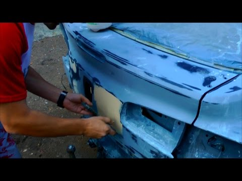 Как зашпаклевать ржавчину на машине своими руками 5