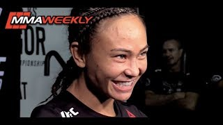 UFC 229 Backstage: Michelle Waterson Wants to Win Belt for Her Daughter