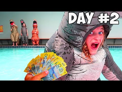 LAST TO LEAVE THE DINOSAUR SUIT WINS 1000 Mr Beast Kids Style with Norris Nuts