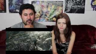 THE HOBBIT: THE BATTLE OF FIVE ARMIES TRAILER REACTION!!!