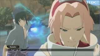 Naruto: Ultimate Ninja Storm 3: Full Burst - Sasuke vs Team 7 Boss Battle (Best Version) HD