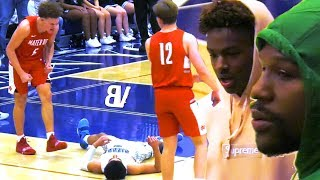 #1 Sierra Canyon VS #5 Mater Dei PLAYOFF GAME Got HEATED! Floyd Mayweather & Bronny Show Up!