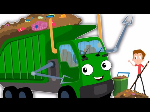 The Wheels On The Garbage Truck Original Nursery Rhymes Kids Songs