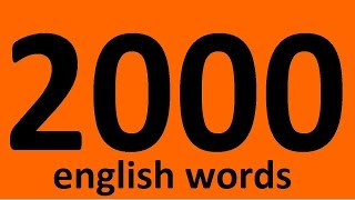 2000 ENGLISH WORDS WITH EXAMPLES. Vocabulary words. English. Learn English words