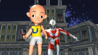 Ultraman Jack Action Figure Upin Ipin Vs Ultraman Cosmos funny Nursery Rhymes