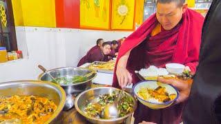 TIBETAN CHINESE Street Food Tour in REMOTE China! YAK SASHIMI, TEMPLE FOOD, + UNKNOWN Street Foods