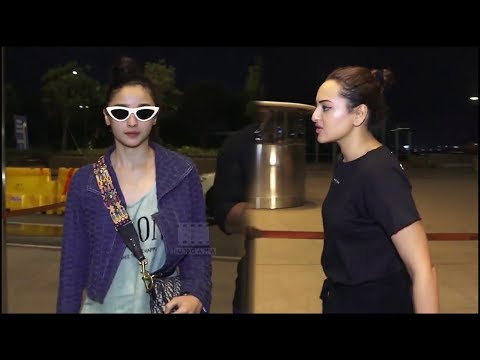 Alia Bhatt And Sonakshi Sinha SPOTTED At Mumbai Airport - Bollywood Latest Update