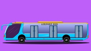 Kids TV Channel | Airport Bus | vehicle assembly for kids | cartoon videos for kids