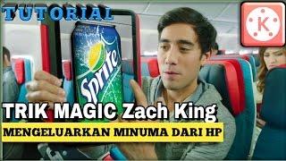 Cara edit video mengeluarkan minuman dari hp | MAGIC ZACH KING (kinemaster)