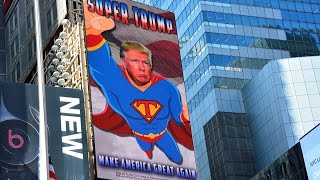 Super Trump Times Square Digital Billboard Live