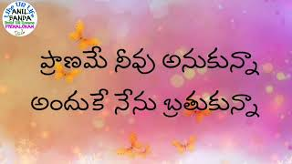 Praname Neevu Anukunna anduke nenu Brathikunnaa whatsapp Status Song by Anil Banda