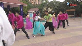 खेसारी लाल और शुभी की फिल्म आतंकवादी के गाने की शूटिंग के दौरान लचकी कमर | Bhojpuri Dance Shooting