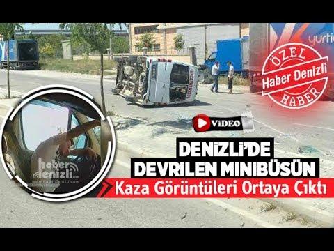 Devrilen minibüsün kaza görüntüleri ortaya çıktı - Denizli Haber - HABERDENİZLİ.COM
