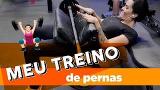 MEU TREINO DE MEMBROS INFERIORES!