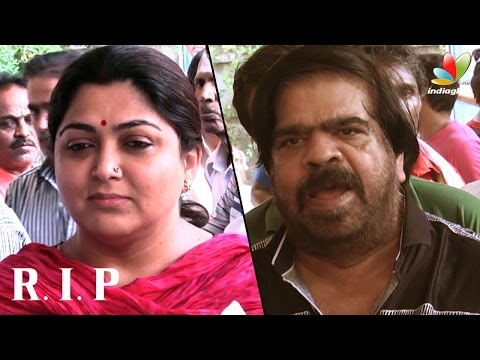 Xxx Mp4 Kushboo T Rajendar And More Celebs Pay Last Respect To Film News Anandan Death Video 3gp Sex