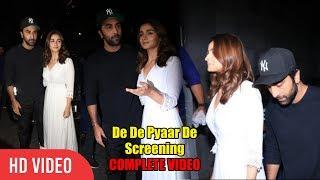 Ranbir Kapoor Plays The Protective Boyfriend To Alia Bhatt At De De Pyaar De Screening | FULL VIDEO