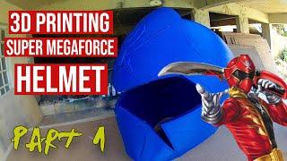 3D Printed Super Megaforce  Helmet #powerrangers #3dprinting #DIY