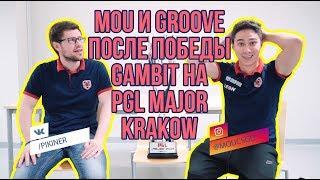 mou и groove с комментариями и радостью после победы Gambit на PGL Major Krakow