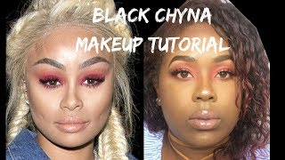 Blac Chyna Red Eye shadow Look| Nina Celeste