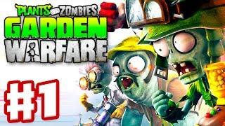 Plants vs. Zombies: Garden Warfare - Gameplay Walkthrough Part 1 - Garden Ops Multiplayer (Xbox One)
