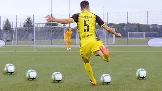 freekickerz vs BVB Pro's - ULTIMATE FOOTBALL CHALLENGES in new BVB CL Shirt