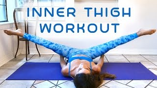 Slim Legs & Inner Thighs Workout for Beginners, 20 Minute At Home Fitness , Thigh Gap Tone Up