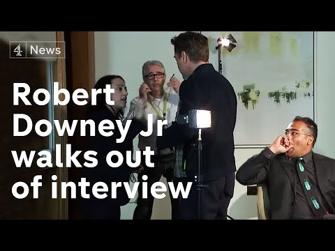 Robert Downey Jr full interview star walks out when asked about past