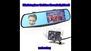 Dual Lens Car Camera Rearview Mirror Full Hd 1080p   Unboxing