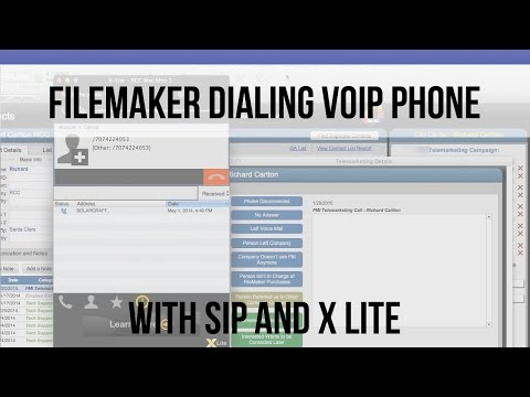 FileMaker Dialing VOIP Phone with SIP & X Lite