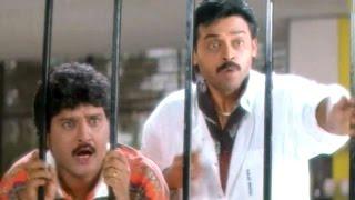 Raja Movie Comedy Scenes - Children's Ink Bottel Breaking Scene - Venkatesh, Soundarya, Sudhakar