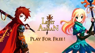 Mobile FREE game mmorpg Light of Aiaran game trailer