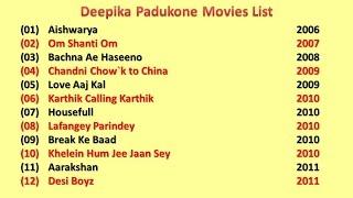 Deepika Padukone Movies List