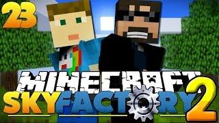 Minecraft SkyFactory 2 - CHAOS DRAGON TRAINING!! [23]